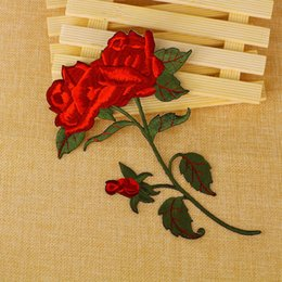 $enCountryForm.capitalKeyWord NZ - Rose Iron On Patches Sewing Embroidered Applique for Cloth Badge Motif