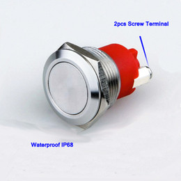 Stainless Push Button Canada - DHL UPS Free shipping 19mm metal stainless steel waterproof IP68 anti vandal momentary push button doorbell switch,screw terminal Pushbutton