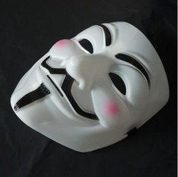 V Vendetta Cosplay Canada - New V for Vendetta Anonymous Movie Adult Guy Mask Hot Halloween Cosplay Cool Masks 1203#03