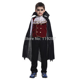 Fairy Halloween Costume Canada - Shanghai Story new Children's Halloween Role play the hero The new boy kids vampire costumes Halloween Cosplay costume