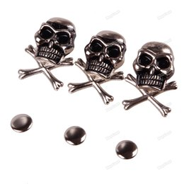 Gros Clous D'artisanat Pas Cher-Gros-TOPCOOL moins cher 15mm 10Pcs Cool Skull Fantôme Rivet Stud Punk Rock Bracelet Sac en cuir bricolage Craft Design officiel