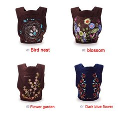 $enCountryForm.capitalKeyWord Canada - New 4 Designs 3 In 1 Mei Tai Baby Carrier Flower Embroidery Fashion Pattern Design Baby Sling Wrap Front Back Ergonomic Baby Backpack Infant