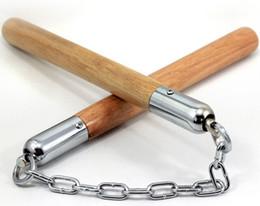 Großhandel Neues hochwertiges Nunchaku-Holz für Kampfsportarten, Bühnenshow-Übungsbedarf