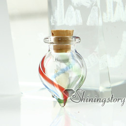 Discount small cremation urns - small glass bottles pendant necklaces cremation jewelry urnashes locket cremation jewelry urn