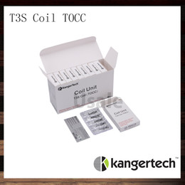 tocc coils UK - Kanger T3S Coil Unit TOCC Kangertech T3S CC Clear Cartomizer Replacement Coils Head 1.5 1.8 2.2 2.5 ohm Coils For T3S Atomizer 100% Original