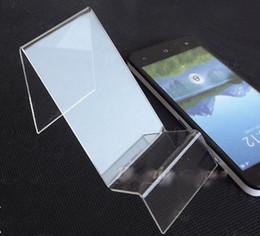 5 PAKET Temizle Göster Raf Ekran Tutucu Cep Cep Telefonu Iphone Için Montaj Standı
