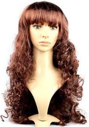 Vente en gros Vente chaude pas cher long ondulé anime 12 couleurs cosplay perruque, fibre synthétique cheveux femmes parti peruca perruque