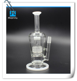 $enCountryForm.capitalKeyWord Canada - Best Quality glass water pipes double Honeycomb percolator bongs two function glass oil rigs 14mm glass bong recycler Hookahs free shipping
