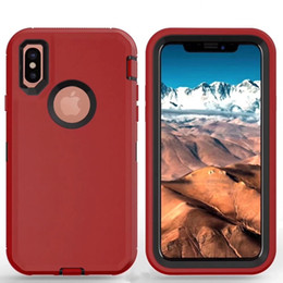 China Robot Armor Case For iPhone X XR Xs Max 6 6S 7 8 9 Plus For Samsung S10 + S10e S10 S9 Plus S8 S7 edge S6 S5 Note 9 8 5 4 Heavy Duty Cover cheap iphone robot case clip suppliers