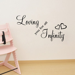 wall sticker letters for nursery Canada - Loving you for all infinity wall QUOTE decal stickers Bedroom Decoration Mural Wedding Letter Wallpaper Decor Poster
