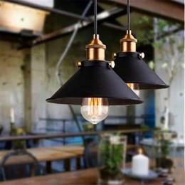 Black Warehouse Lights NZ - American Village Warehouse Retro Pendant Light Loft Industrial Bar Bar Restaurant Little Black Skirt Led Ceiling Lamp