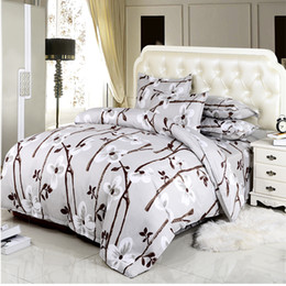 Extra long shEEts online shopping - DY home bedding set polyester duvet cover flat sheet pillowcase roupa de cama