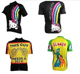 Wholesale-2015 new women men novelty cartoon cycling jersey Cheshire cat we  can do it cycling tops this guy need a beer cycling jersey de802ecbc