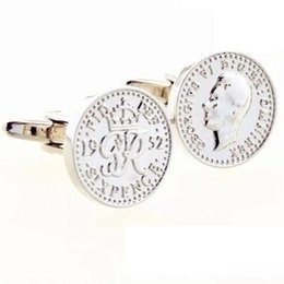 $enCountryForm.capitalKeyWord UK - Wets pound King George VI coin cufflinks cufflinks cufflinks Cufflinks Men's French Wholesale high quality low price procurement markets