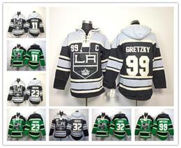 Hockey Hoodie Sweatshirt Canada - Cheap Los Angeles Kings Hockey Hoodie Jersey 11 Anze Kopitar 23 Dustin Brown 32 Jonathan Quick 99 Wayne Gretzky Hoody Sweatshirt