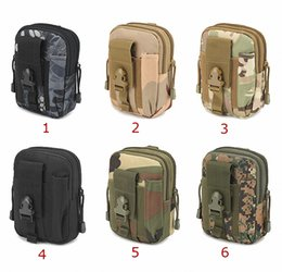 belt bag for hiking NZ - Outdoor Camping Climbing Bag Tactical Military Molle Hip Waist Belt Wallet Pouch Purse Phone Case For Iphone 8 plus 7 Samsung S8 plus