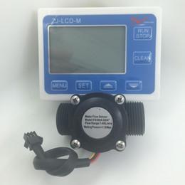 "Water Flow Counter Sensor Australia - Wholesale-New G3 4"" water Flow Counter Sensor with Digital LCD Meter Gauge 10-24V"