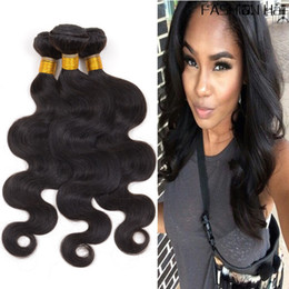 $enCountryForm.capitalKeyWord Canada - Cheap Brazilian Body Wave Human Hair Bundles Unprocessed Virgin Hair Weaves Double Weft Extensions Natural Color 8-30 inch