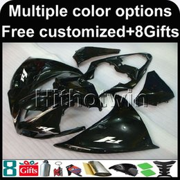 $enCountryForm.capitalKeyWord Australia - 23colors+8Gifts BLACK motorcycle cowl for Yamaha YZF-R1 2009-2011 09 10 11 YZFR1 2009 2010 2011 ABS Plastic Fairing