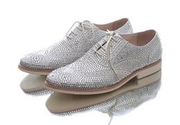 Bridegroom Wedding Shoes Canada - Fashion Groomaman Shoes Pointed Leather Shoes Wedding Shoes Men's Fashion White Rhinestone Bridegroom Shoes Free Shipping