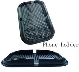 Venta al por mayor de Tablero antiadherente antideslizante negro Sticks Pad Mat para Iphone Gps, incluyendo el paquete minorista Fedex Envío gratuito 160pcs / Lot