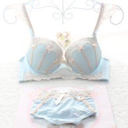 China Vintage Cute Brand Intimates Top Quality Japanese Sexy Young Girls Lace Bra Set Push Up Bra And Panty Set With Bowknot BC Cup supplier japanese girls bras suppliers