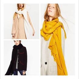 Muffler Neck Canada - Scarves Tassels Fashion Scarf Winter Infinity Scarves Fringe Shawl Pashmina Cashmere Female Neckchief Neck Circle Muffler 100 PCS YYA742