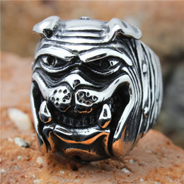 Stainless Steel Boy Ring NZ - 1pc Hot Selling Human Friend Cute Dog Ring 316L Stainless Steel Popular Punk Cool Man Boy Dog Ring