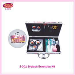 False Eyelash Kit Professional Canada - 2015 New Professional Makeup False Eyelash Extension Cosmetic Set Kit Eye Individual Hand Made Natural Long Lashes Women Beauty Tool E-001