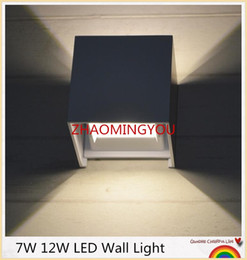 Waterproof Remote Control Light Switch Australia - 1PCS 7W 12W LED Wall Light Outdoor Waterproof IP65 Modern Brief Cube Adjustable Wall Lamps Living Room Porch Garden Lamp