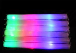 $enCountryForm.capitalKeyWord Canada - Flash toy multi color flash light toy led foam stick led foam baton glow stick for wedding party concert props