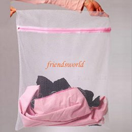 Laundry Basket Nylon Canada - 30*40cm Nylon Mesh laundry bag for Washing bra underwear underpants Care wash Net bag Bra Laundry basket novelty household 300pcs