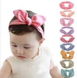 $enCountryForm.capitalKeyWord Canada - Cute Baby rabbit ear Headbands Kids Infant Linen Bow Dot Striped hair headdress Children Hair Accessories Christmas Party Gift
