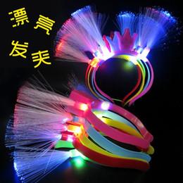 China Toys Factory Canada - Happy New Year factory direct fiber optic headdress hairpin flash headband luminous toy stall wholesale supply