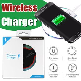 Wholesale Universal Qi Wireless Charger Pad Tablet High Efficiency Charging For iPhone X Samsung S8 S7 Note LG Nexus Nokia HTC With Retail Box