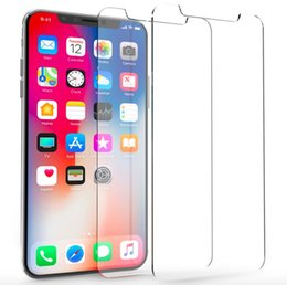 Iphone Glass Screen Guard Australia - Wholesale Genuine Tempered Glass Screen Protector Film Guard Protection for iPhone 5 6 7 8 Plus X TEN 10 XS XR XS MAX Without Retail packing