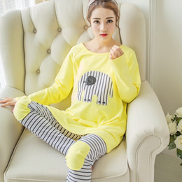$enCountryForm.capitalKeyWord Canada - 2pcs  Set Fashion Maternity Clothes Cartoon Maternity Sleepwear Breastfeeding Sleepwear Nursing Pajamas for Pregnant Women