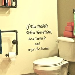 discount funny bathroom wall quotes hot sale wall decals quote wall stickers if you dribble funny