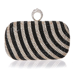 bride handbags NZ - New Mini Finger Ring Handbag Diamond Rhinestone Clutch Bag Evening Banquet Crystal Purse Beautiful Bride Party Purse