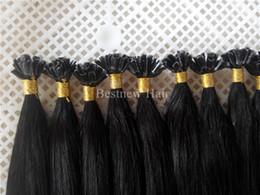 $enCountryForm.capitalKeyWord Canada - 100g 18inch 20inch 22inch 24inch 1g s Keratin U Tip Prebonded Hair Extensions Indian Remy Human Silk Straight Hair