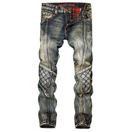 Chinese  Fashion Retro Straight Denim Jeans Men Casual Men Long Pants Trousers Biker Jean Plus Size 29-38 manufacturers