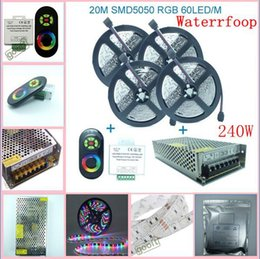 $enCountryForm.capitalKeyWord Canada - 20M SMD 5050 RGB Waterproof 60Led M Flexible Led Strip + Wireless RF Dimmer Control Touch Remote Controller + 12v 20A Power, dandys