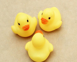 $enCountryForm.capitalKeyWord Canada - Cheap wholesale Baby Bath Water Toy toys Sounds Yellow Rubber Ducks Kids Bathe Children Swiming Beach Gifts