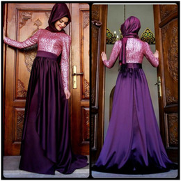 $enCountryForm.capitalKeyWord Canada - Hijab Long Sleeve Evening Dresses Arabic Gowns 2016 New Cheap Elegant Sexy Pink Sequin Muslim Prom Dresses Party Gown