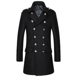 Tendance Manteau Pas Cher-Livraison gratuite Nouveaux Hommes en hiver Classic Fashion épaississement High-Grade Double-Breasted Leisure Trend Men's Hommes Hommes
