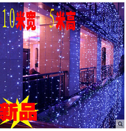 outdoor patio curtains Canada - 5 * 10 m 1600LED waterproof LED curtain lights on the outdoor patio bar decorated with fairy lights110v-220v AU US EU UK Plug