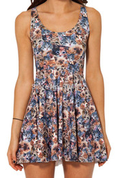 a8a1e63fdb Drop Ship Brand New 2014 Sexy Women Casual Dress CRAZY CAT LADY REVERSIBLE  SKATER DRESS - LIMITED Pleated Print Dresses S119-113 FG1510