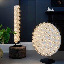 Creative Modern Art New Classics Strip Type Floor Lamps Living Room Bedroom Study Circular Lighting