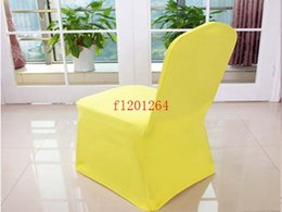 $enCountryForm.capitalKeyWord Canada - Free Shipping Colorful Brief stylechair cover thicken elasticity chair cover for wedding banquet hotel,100pcs lot