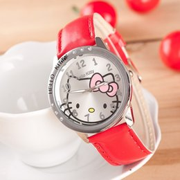 girl children models NZ - The new explosion models hot selling cheap fashion girls cute cartoon Hello Kitty watch children watch women quartz watch dither